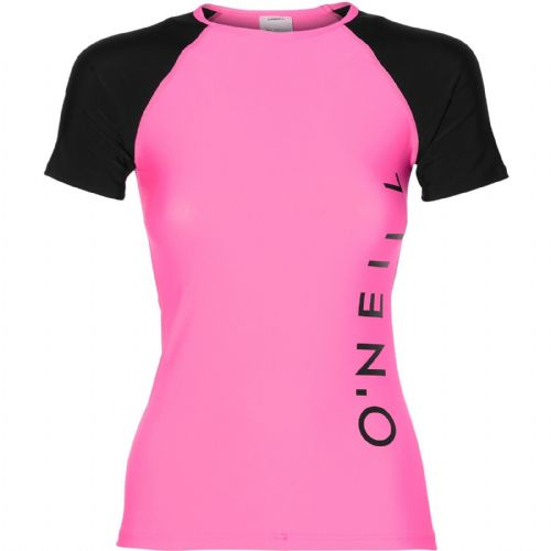 O'NEILL WOMENS RASH TOP.SPORTS LOGO UPF50+ SUN PROTECTION RASH VEST 8S 600 4091